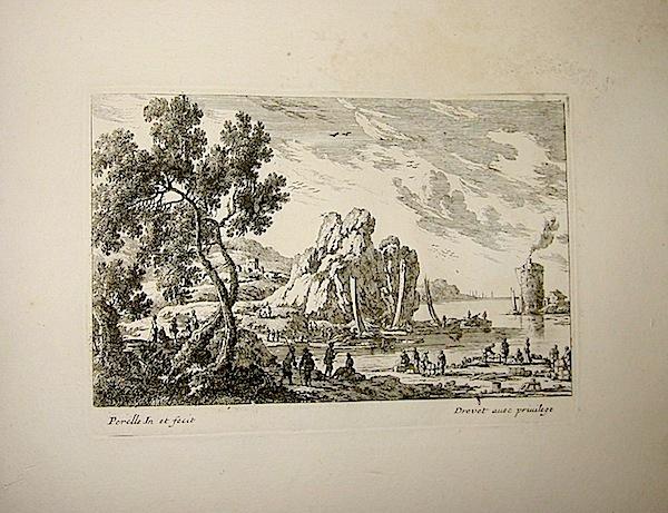 Perelle Gabriel (1603-1677) [Paesaggio con marina] 1835 ca. Parigi