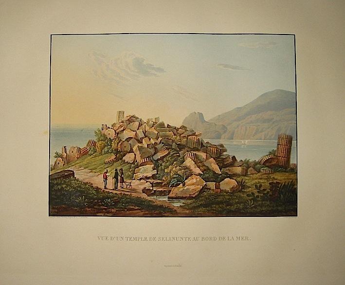 Vue d'un Temple de Selinunte au bord de la mer 1822-1826 Parigi