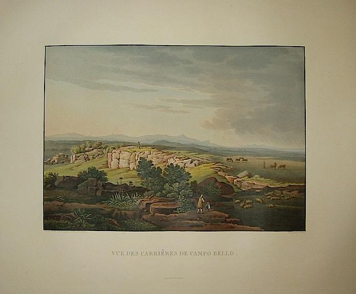 Vue des carrières de Campo Bello 1822-1826 Parigi