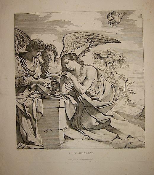 Pasqualini Giovanni Battista da Cento La Maddalena (Maria Maddalena e due angeli) 1870 ca. Roma, Calcografia Camerale