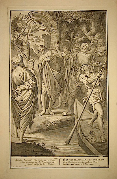 Jongman Wouter Joannes praedicans in deserto prima metà  del XVIII Secolo s.l.