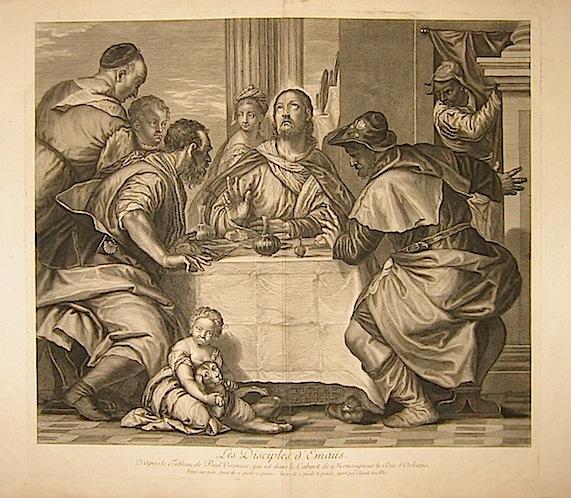 Duflos Claude Les Disciples d'Emaus... seconda metà  XVIII Secolo Parigi