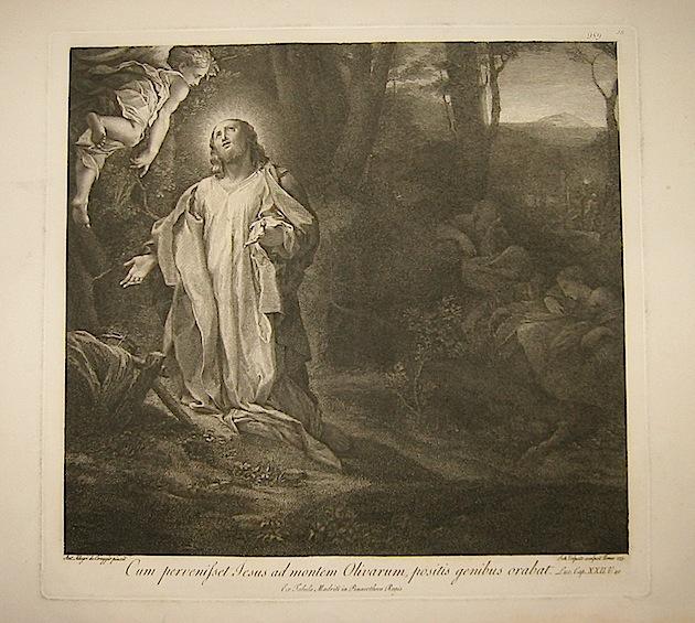 Volpato Giovanni Cum pervenisset Jesus ad montem Olivarum, positis genibus orabat... 1773 Roma