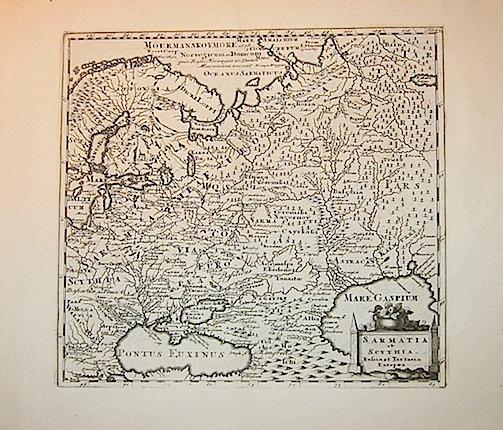 Cluver Philipp (Cluverius Philippus) Sarmatia et Scythia, Russia et Tartaria Europaea 1678 Braunschweig