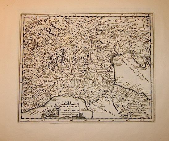 Cluver Philipp (Cluverius Philippus) Italiae Gallicae sive Galliae Cisalpinae conterminarumque terrarum vetus et nova descriptio 1678 Braunschweig