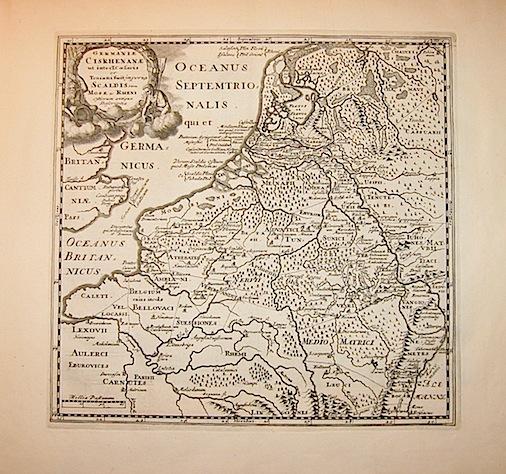 Cluver Philipp (Cluverius Philippus) Germaniae Cisrhenanae ut inter I. Caesaris et Traiani fuit Imperia Scaldis item Mosae hac Rheni ostiorum antiqua descriptio  1678 Braunschweig