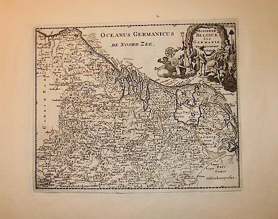 Cluver Philipp (Cluverius Philippus) Hodiernae Belgicae sive Germaniae Inferioris tabula 1678 Braunschweig