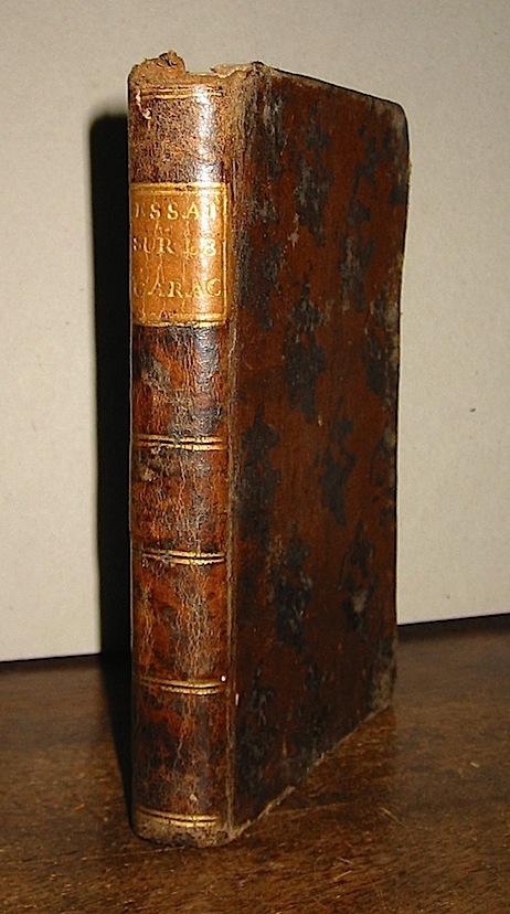 Jean-Jacques de Rutlidge Essai sur le caractère et les moeurs des François comparées a celles des Anglois 1776 Londres s.t.