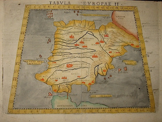 Ruscelli Girolamo (1504-1566) Tabula Europae II 1574 Venezia
