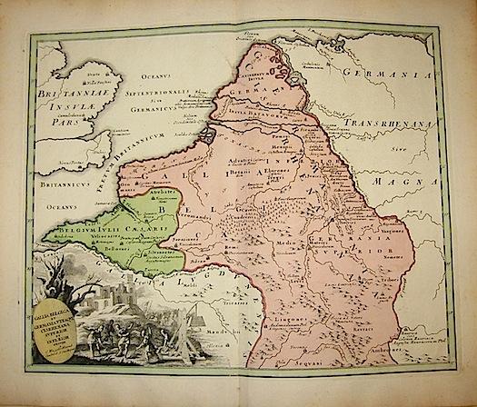 Weigel Christoph Gallia Belgica et Germania Utraque Cisrhenana superior et inferior 1720  Norimberga
