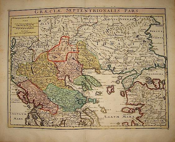 Weigel Christoph Graeciae septentrionalis pars 1720  Norimberga
