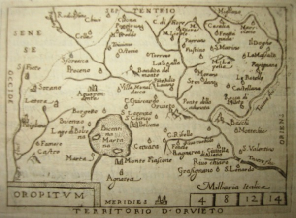 Ortelius Abraham (1528-1598) Territorio d'Orvieto 1598 Brescia