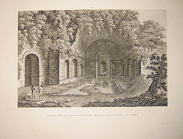 Giarré P. Fonte della Ninfa Egeria nella vicinanze di Roma 1845 Firenze