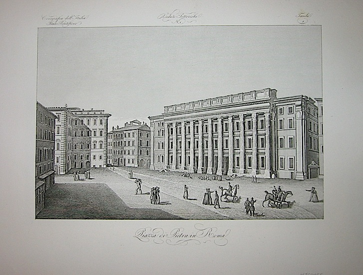 Corsi S. Piazza di Pietra in Roma 1845 Firenze