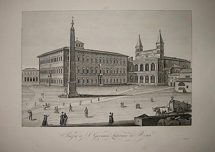 Corsi S. Piazza di S. Giovanni Laterano in Roma 1845 Firenze
