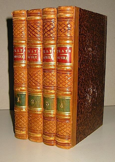 Giovanni Prati Opere. Edizione ordinata e rivista dall'Autore 1851-52 Firenze Libreria Paggi (voll. I,II,III) e Genova, Dario Giuseppe Rossi (vol.IV)