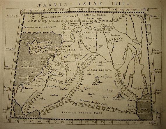 Magini Giovanni Antonio Tabula Asiae IIII 1620 Padova