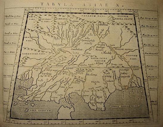 Magini Giovanni Antonio Tabula Asiae X 1620 Padova