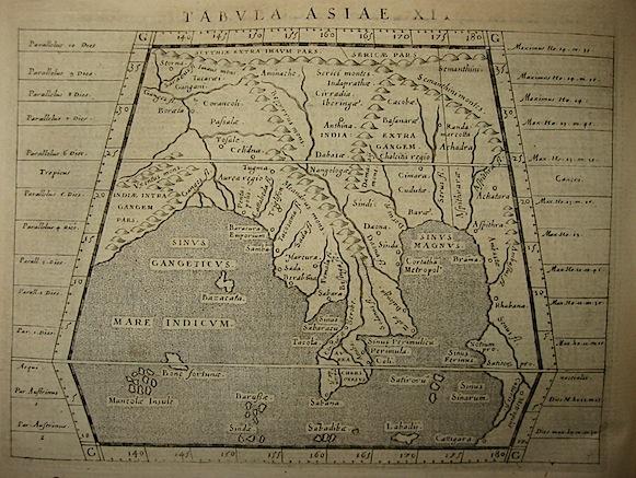 Magini Giovanni Antonio Tabula Asiae XI 1620 Padova