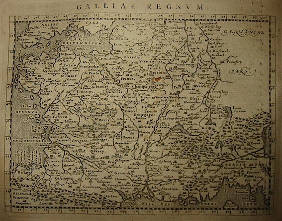 Magini Giovanni Antonio Galliae Regnum 1620 Padova