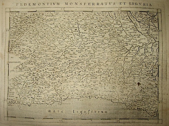 Magini Giovanni Antonio Pedemontium Monsferratus et Liguria 1620 Padova