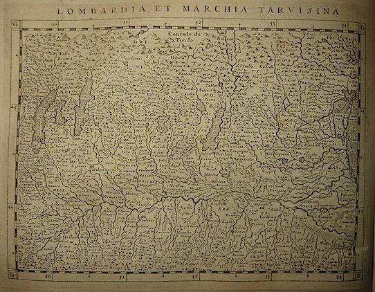 Magini Giovanni Antonio Lombardia, et Marchia Tarvisina 1620 Padova