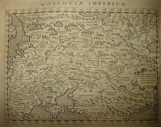Magini Giovanni Antonio Moscoviae Imperium 1620 Padova
