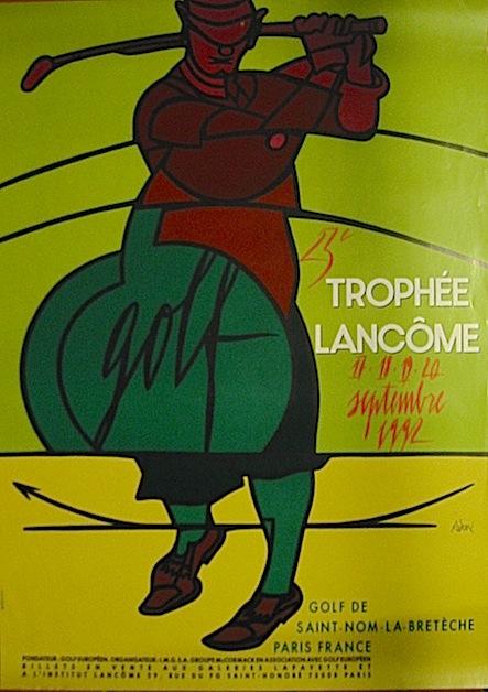 Adami Valerio Golf. 23e Trophée Lancome. 17-18-19-20 septembre 1992. Saint-Nom-la-Bretèche 1992 Paris
