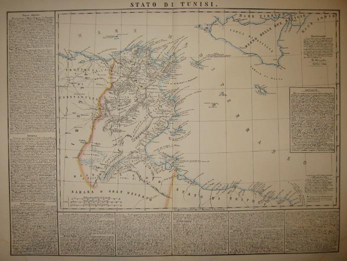 Marzolla Benedetto Stato di Tunisi 1854 Napoli