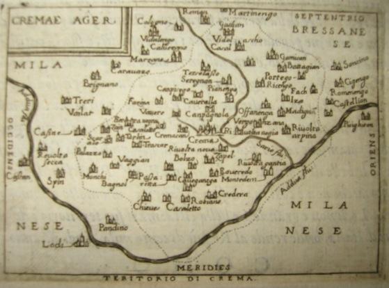 Ortelius Abraham (1528-1598) Cremae Ager 1598 Brescia
