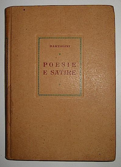 Luigi Bartolini Poesie e satire 1944 Roma Edizioni D.O.C.