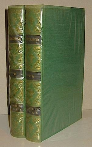 Giovanni Boccaccio Decameron (a cura di N.Sapegno). Volume I (e Volume II) 1956 Torino Unione Tipografico-editrice torinese
