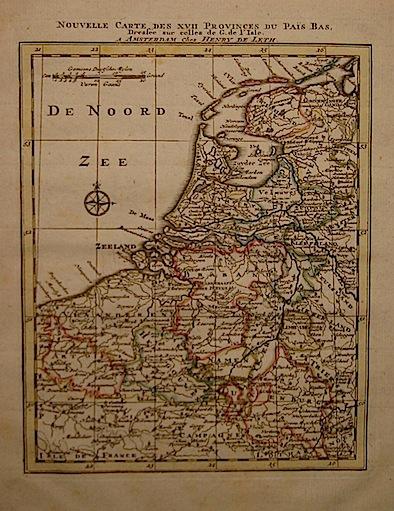 De Leth Hendrick Nouvelle Carte des XVII Provinces du Pais Bas 1770 ca. Amsterdam