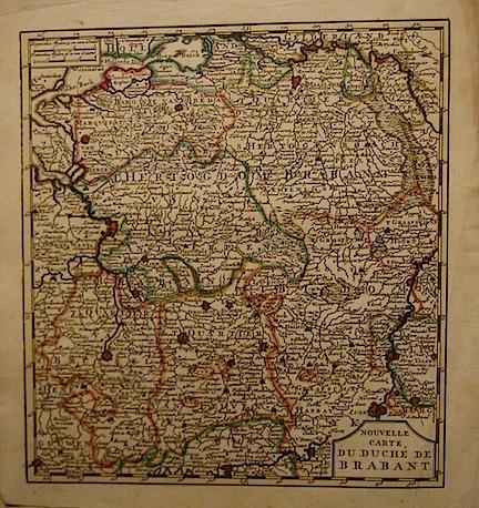 De Leth Hendrick Nouvelle carte du Duché de Brabant 1770 ca. Amsterdam