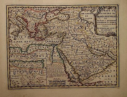 De Leth Hendrick Estats de l'Empire du Grand Seigneur dit Sultan et Ottomans Empereur des Turcs 1770 ca. Amsterdam