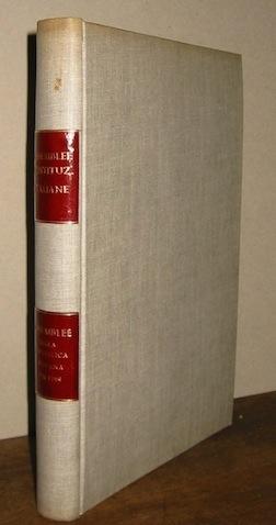 Vittorio E. (a cura di) Giuntella Assemblee della Repubblica romana (1798-1799). Volume primo... 1954 Bologna  Zanichelli