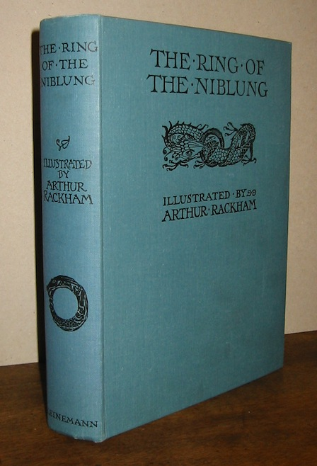 Richard Wagner  The ring of the Niblung. A trilogy with a prelude by Richard Wagner translated into English by Margaret Armour (The Rhinegold & The Valkyrie... with illustrations by Arthur Rackham; Siegfried & The twilight of the gods...) 1939 London  William Heinemann