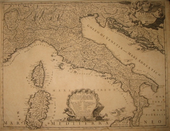 Cantelli Giacomo (1643-1695) L'Italia dedicata all'illustrissimo e reverendissimo Sig.re Monsig.re Gio. Battista Spinola... 1694 Roma