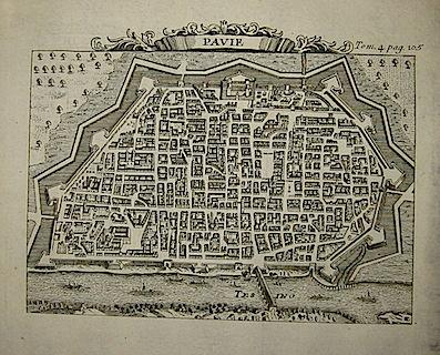 Van der Aa Pieter (1659-1733) Pavie 1706 Leida
