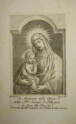 Bombelli P. La Madonna nella Chiesa della SS.ma Trinità  de Pellegrini 1792 Roma