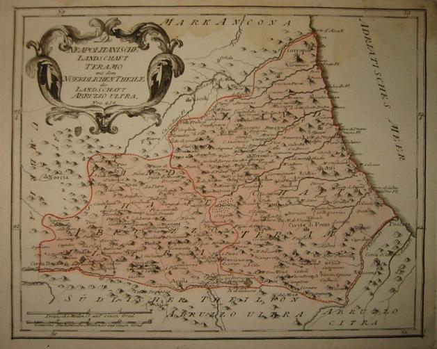 Reilly (von) Franz Johann Joseph Die Neapolitanischen Landschaft Teramo mit dem noerdlichen Theile der landschaft Abruzzo ultra 1791 Vienna