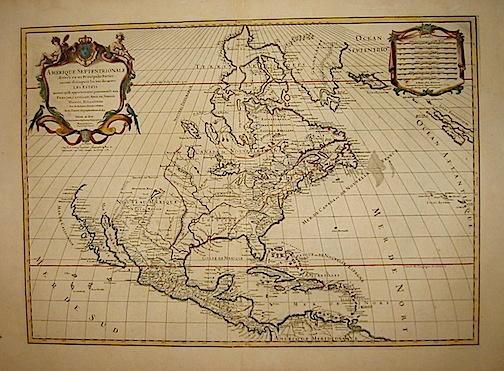 Sanson Nicolas (1600-1667) Amerique septentrionale divisée en ses principales parties... 1781 Parigi