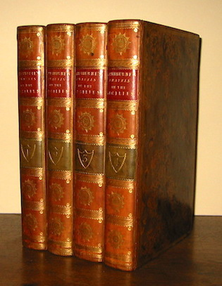 Henry (1743-1803) Swinburne Travels in the two Sicilies... in the years 1777, 1778, 1779, and 1780. The second edition. In four volumes. Vol. I (... Vol. IV) 1790 London printed by J. Nichols, for T. Cadell, and P. Elmsly, in the Strand