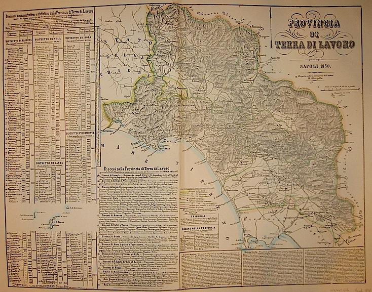 Marzolla Benedetto Provincia di Terra di Lavoro 1858 Napoli