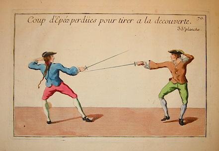 Girard P.J.F. Coup d'Epées perdues pour tirer a la decouverte 1740 Parigi