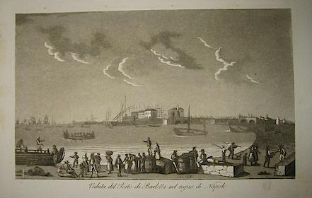 Gandini Francesco Veduta del Porto di Barletta nel regno di Napoli 1831 Cremona