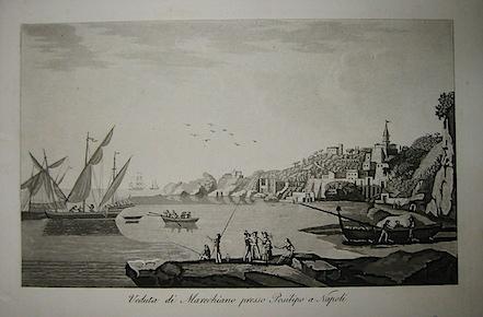 Gandini Francesco Veduta di Marechiaro presso Posillipo a Napoli 1831 Cremona