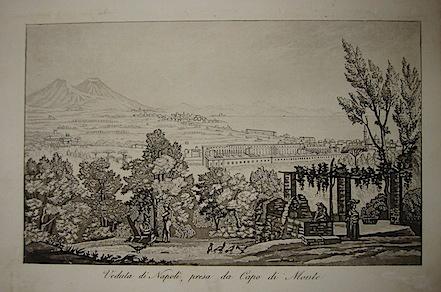 Gandini Francesco Veduta di Napoli, presa da Capo di Monte 1831 Cremona