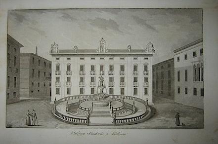 Gandini Francesco Palazzo Senatorio a Palermo 1831 Cremona