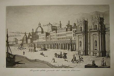Gandini Francesco Prospetto della sponda del mare in Palermo 1831 Cremona